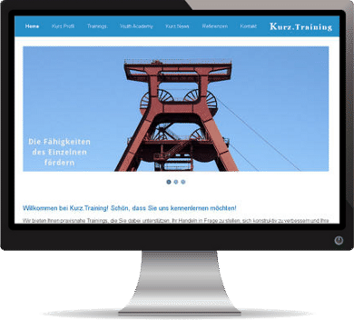 Webdesign-Referenz: Kurz.Training
